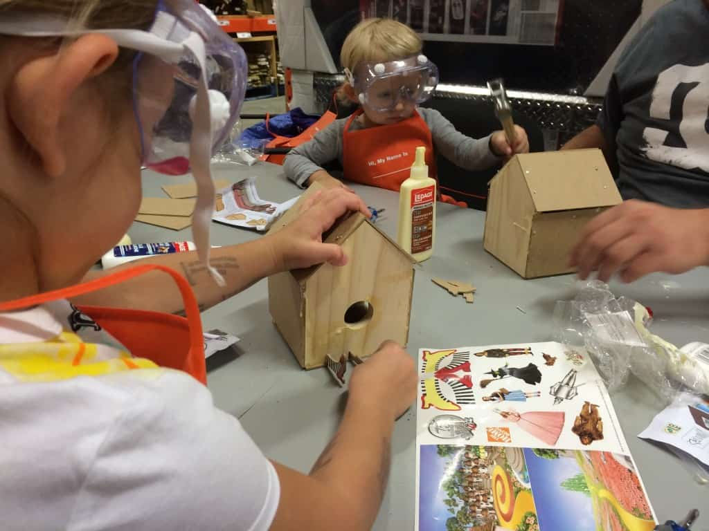 Free monthly kids workshops at the home depot raising for Kids crafts at home depot