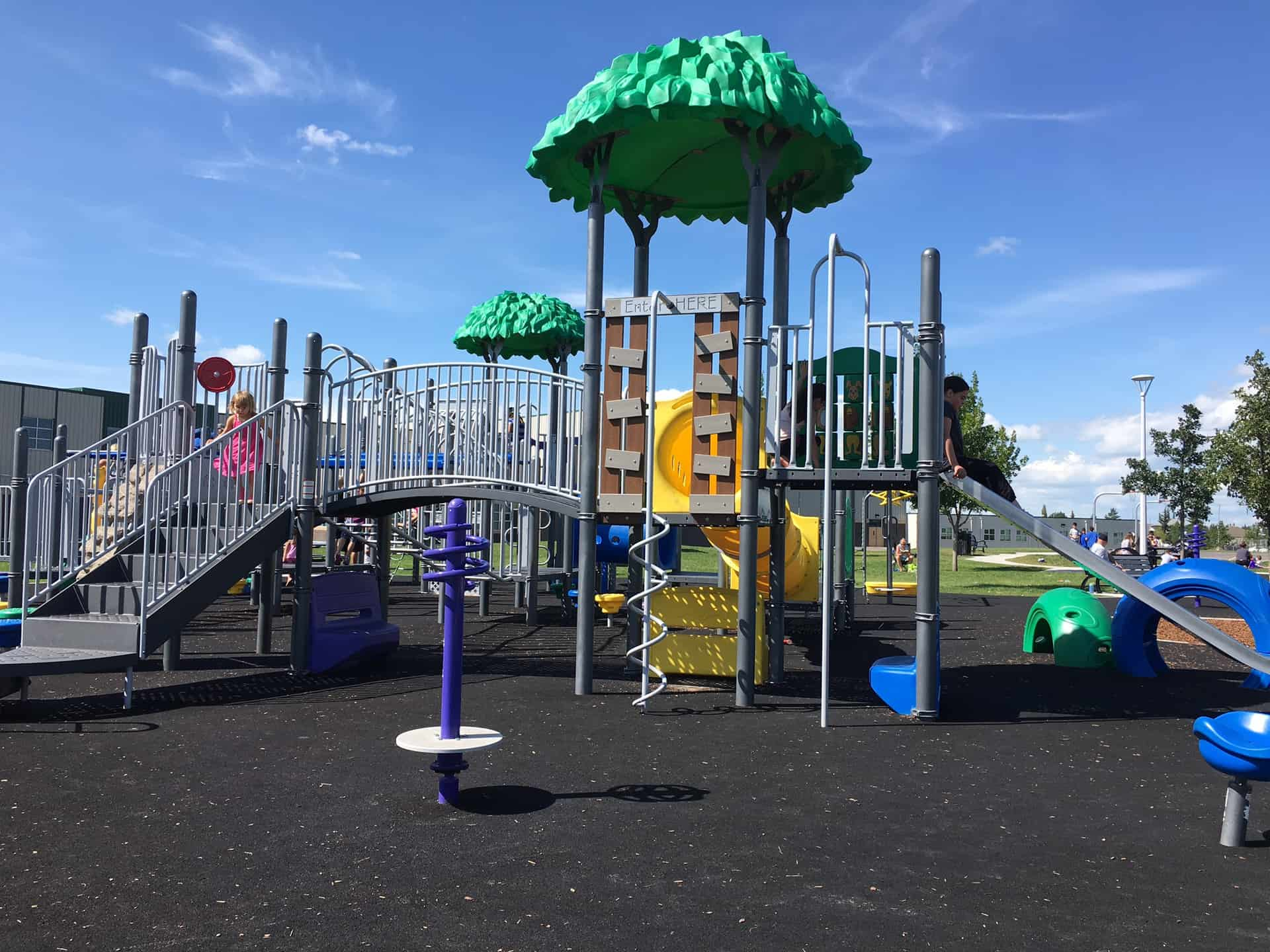 Florence Hallock School Edmonton Play Structure