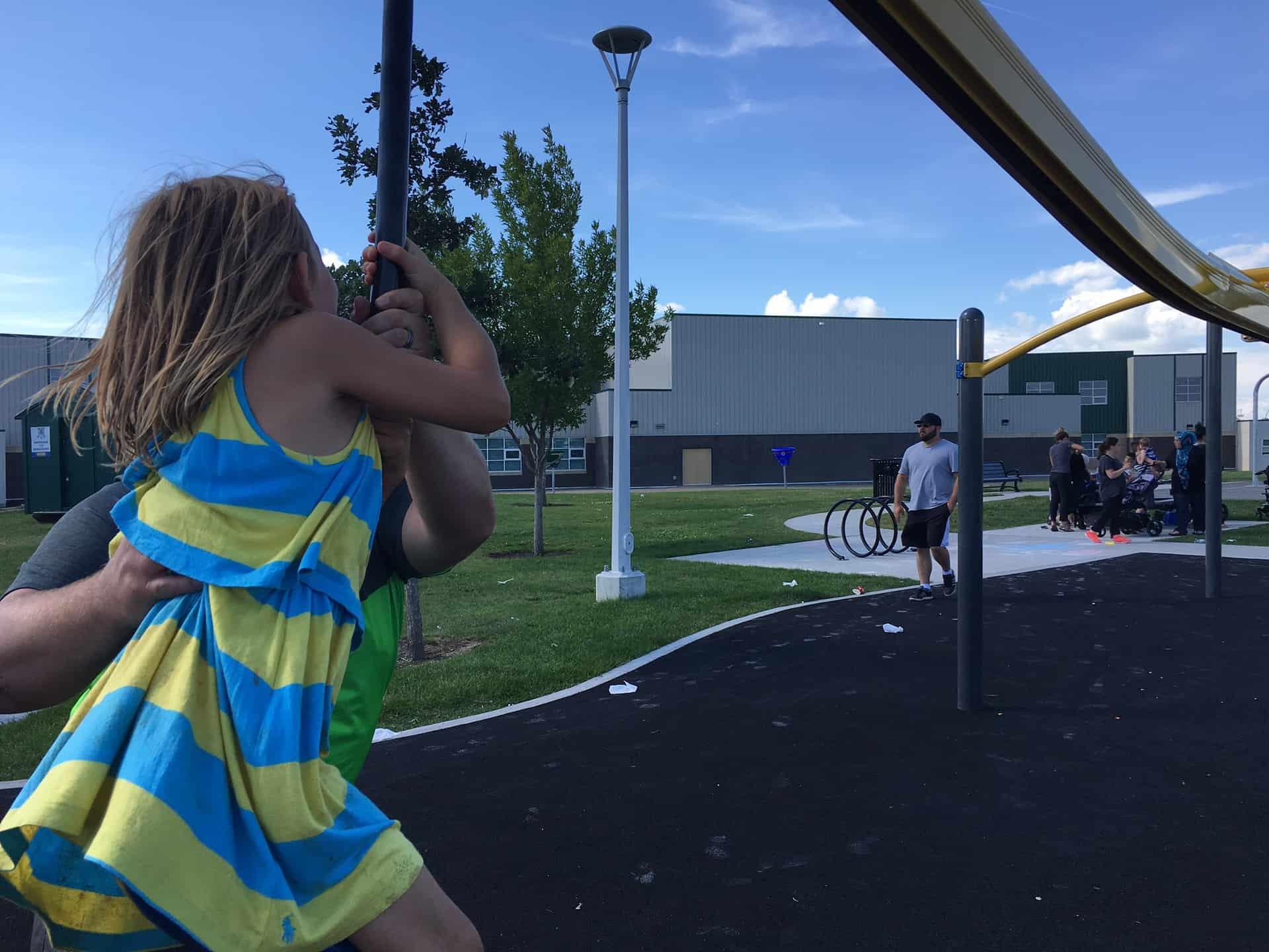 Zipline at Florence Hallock School