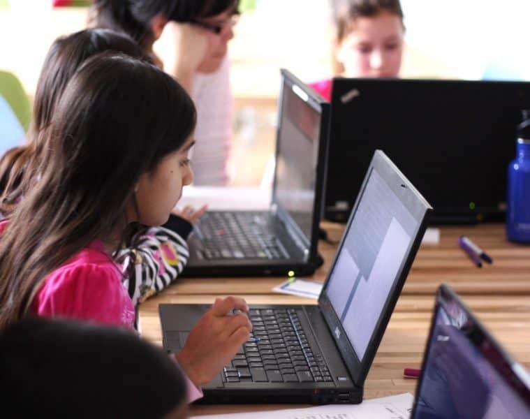 Girls Learning Code Day Edmonton