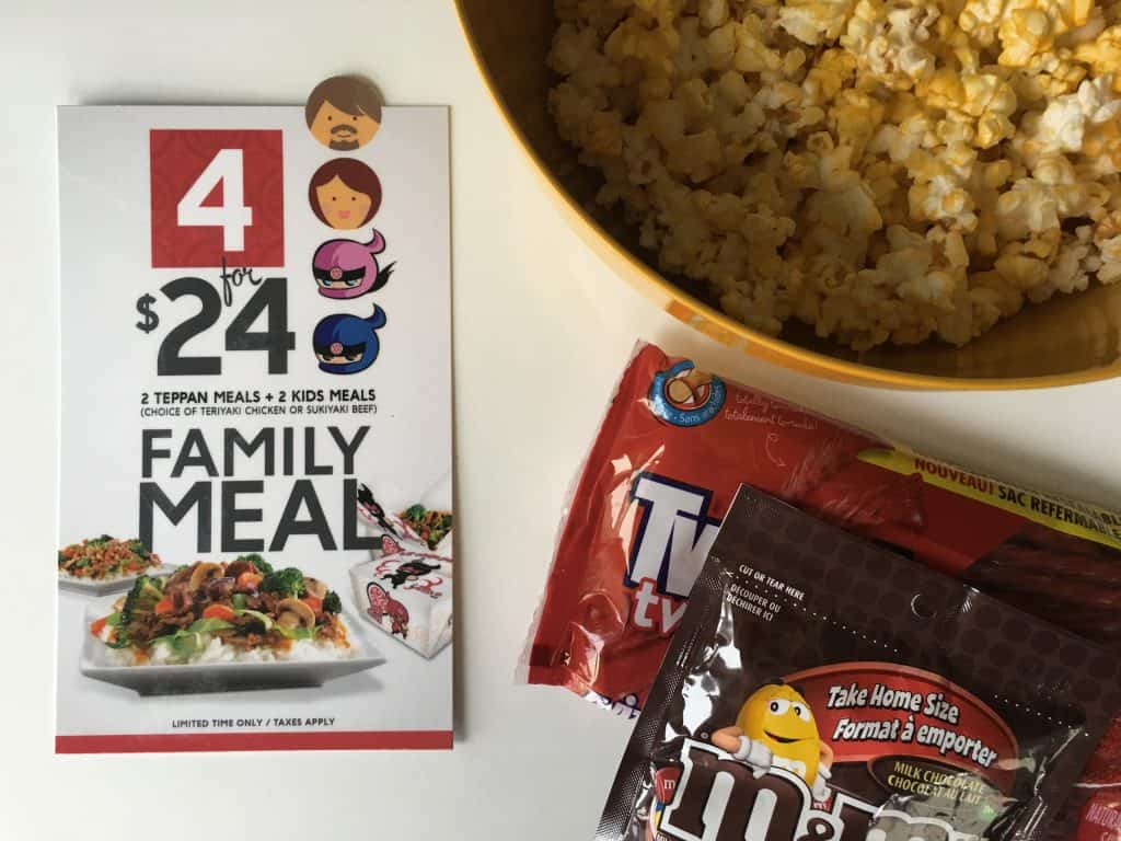 Movie Night at Home with Edo Japan's New Family 4/$24 Deal