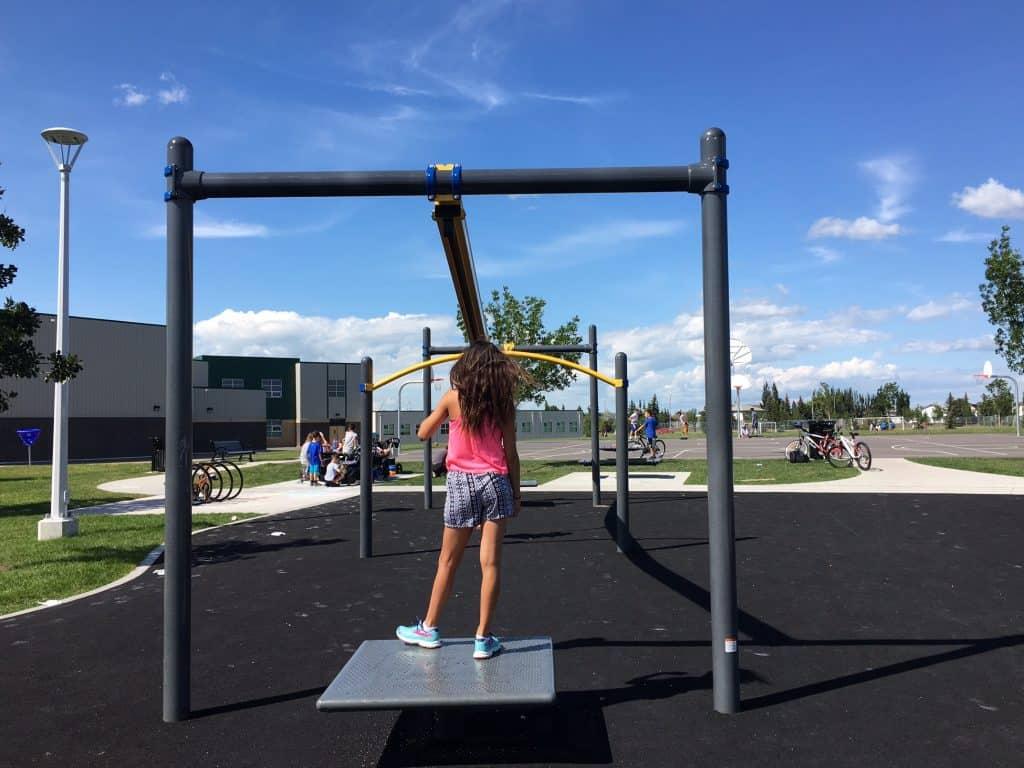 Four Edmonton Playgrounds with Ziplines