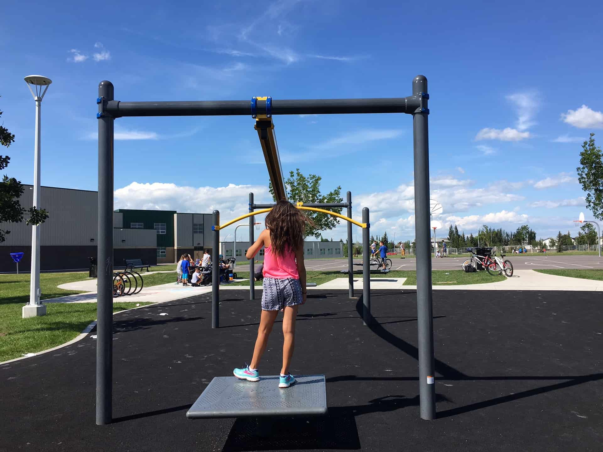 Four Edmonton Playgrounds with Ziplines