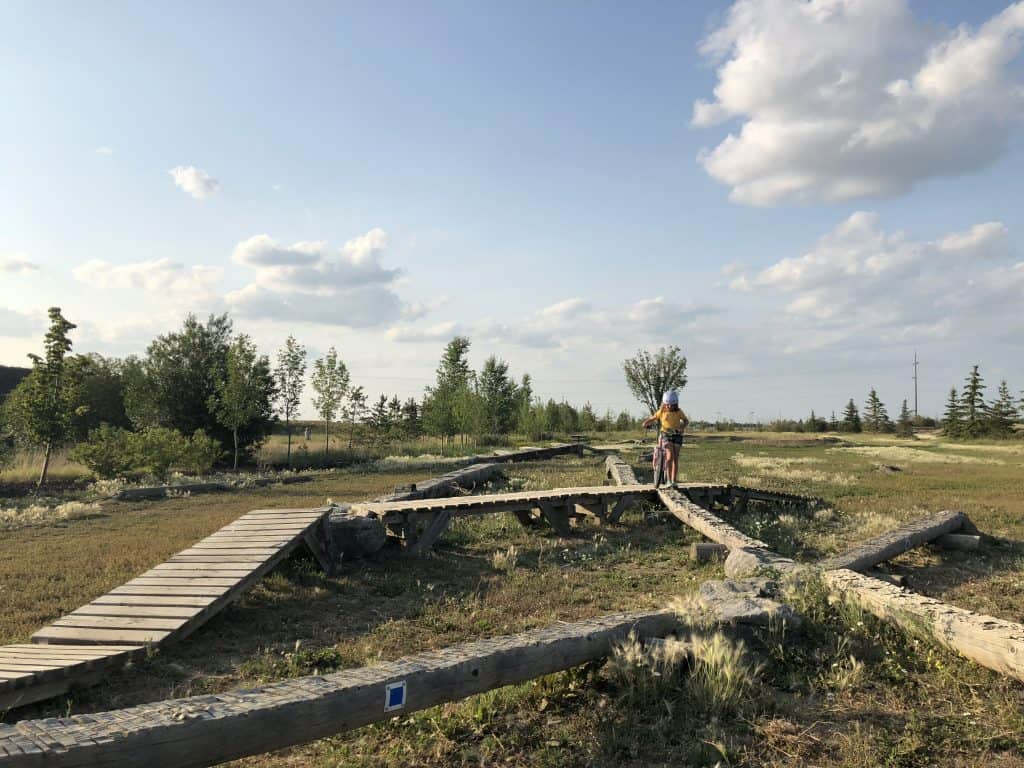 Kids Can Practice on Bridges and Dirt Jumps at the Strathcona County Bike Skills Park