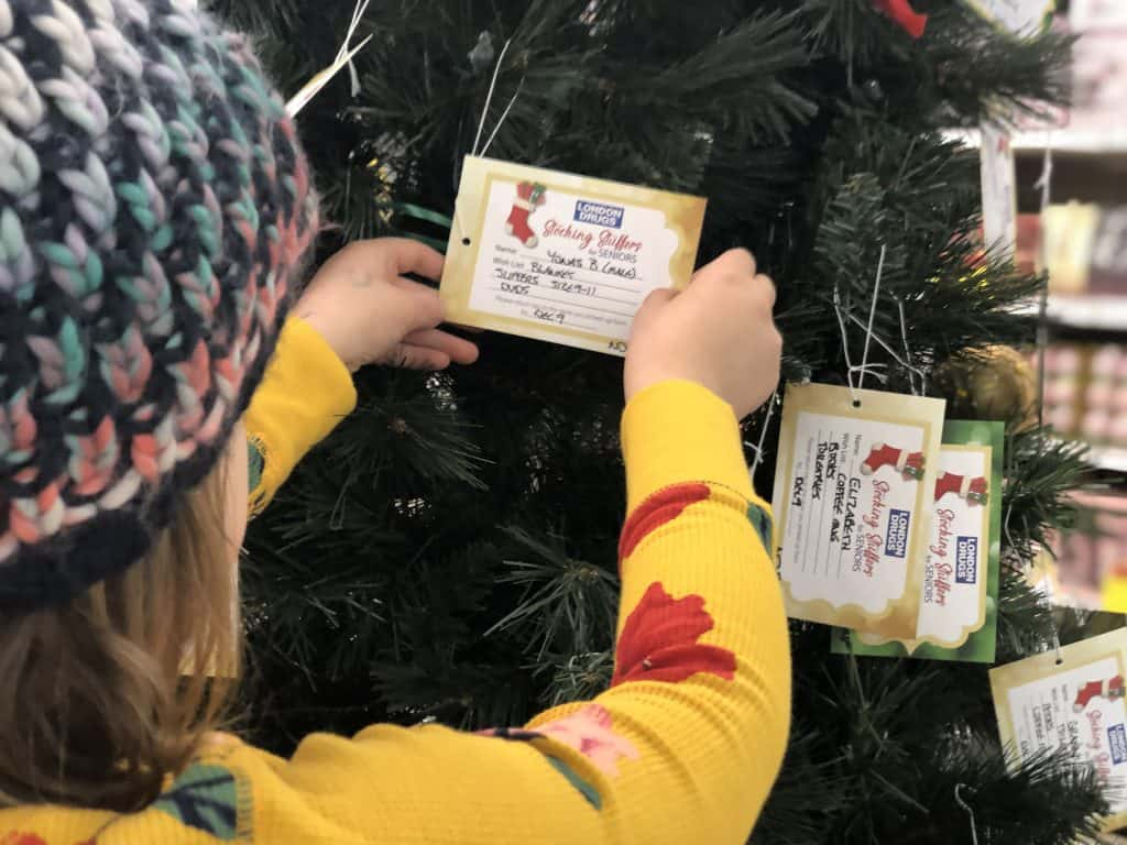 Pick a Name Off of the Tree and Stuff a Stocking for a Senior with London Drugs