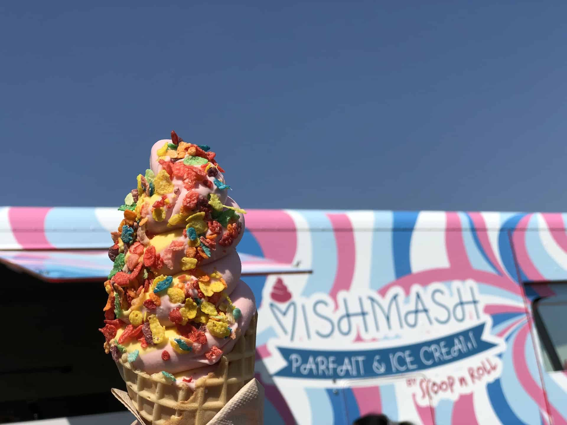 Scoop n Roll Debuts Soft Serve Ice Cream & Parfaits at Mish Mash Parfait & Ice Cream