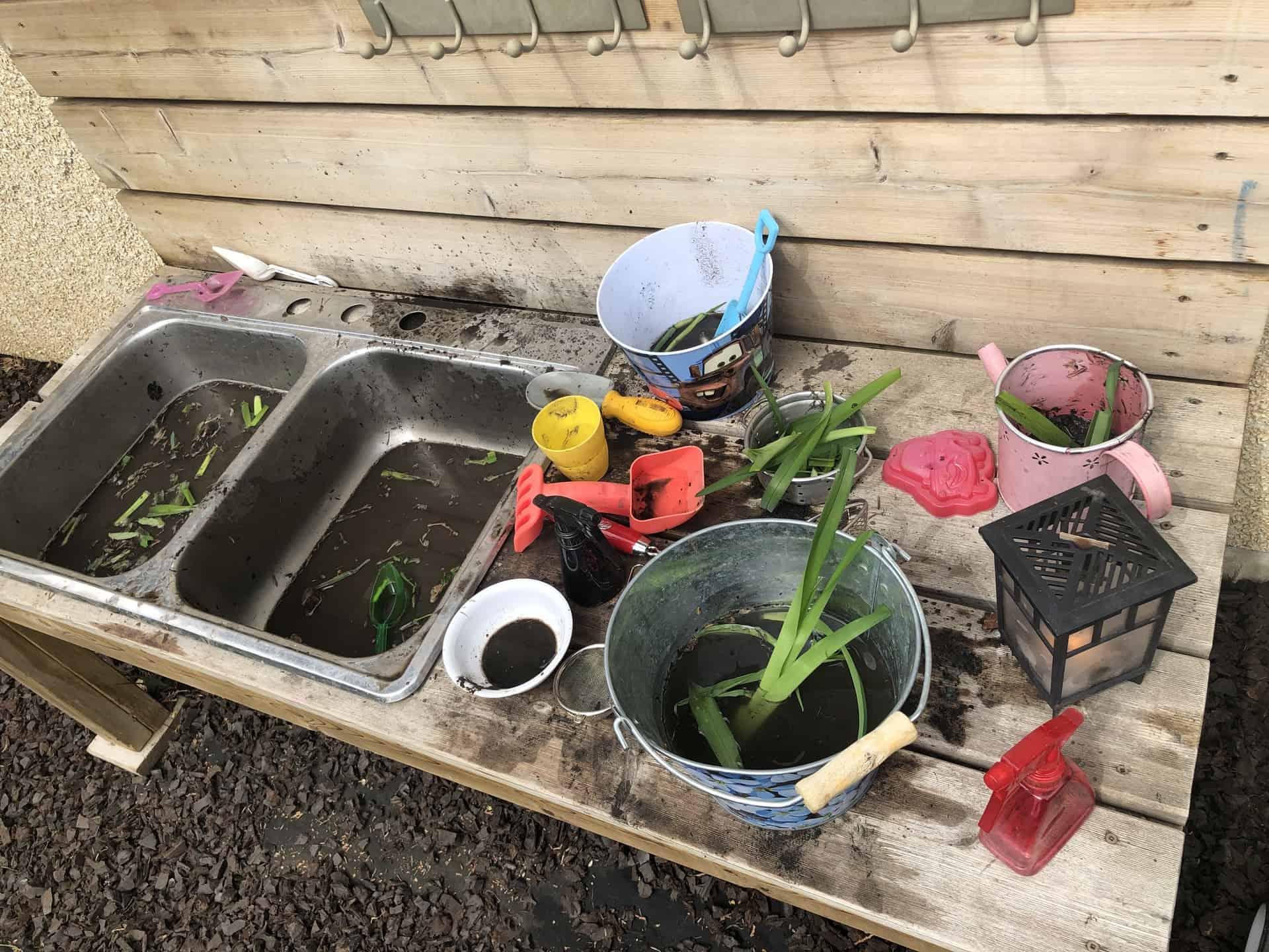 Backyard Fun? Start with a Mud Kitchen