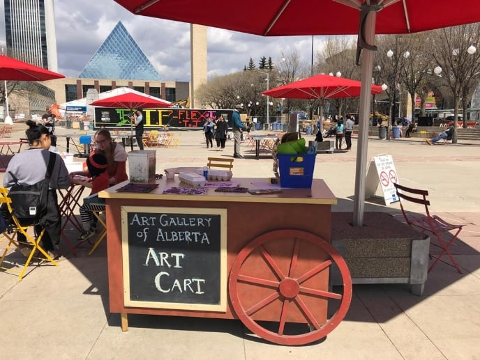 There's a Free Art Cart Pop-up Coming to Churchill Square Every Wednesday this Summer