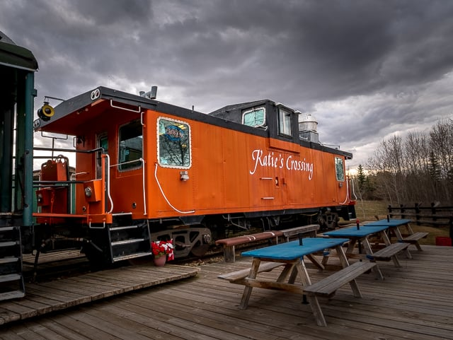 You Can Eat on a Real Train at Katie's Crossing Outside of Edmonton