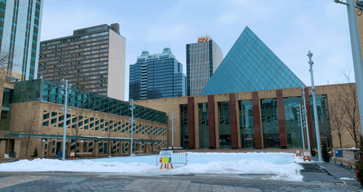 Every Friday there are FREE Skate Rentals at City Hall Ice Rink