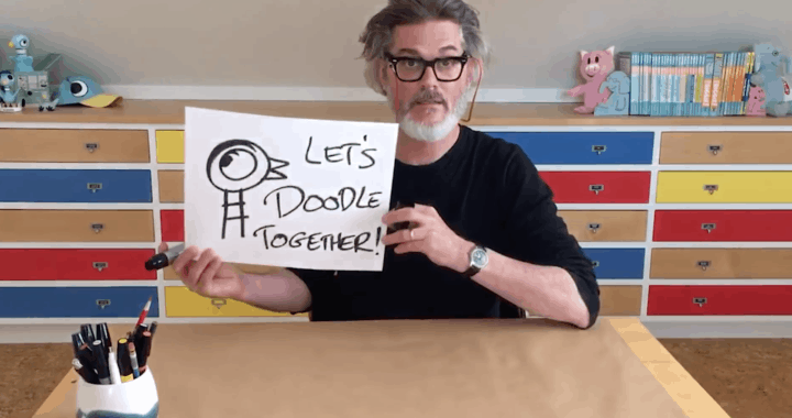 Kids can Join this Daily Online Illustrating Session with Mo Willems